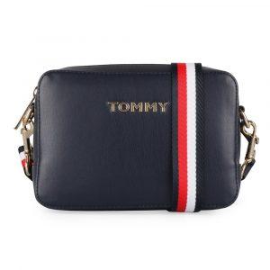 Tommy Hilfiger Dámská crossbody kabelka Iconic Tommy AW0AW07592 – tmavě modrá