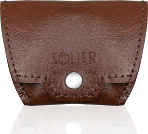 Hnědá peněženka na mince SOLIER (SA10 VINTAGE BROWN) Velikost: univerzální