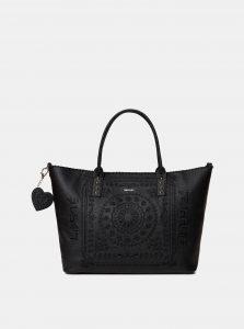 Černá kabelka s výšivkou Desigual Soft Bandada Holdbox