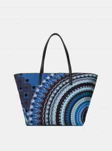 Tmavě modrá vzorovaná kabelka Desigual Blue Friend