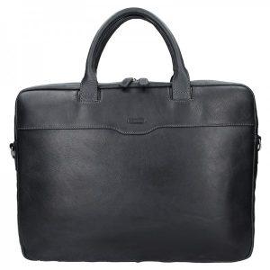 Dámská kožená taška na notebook Katana Evelin – černá
