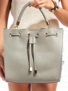 Rovicky kožená šedá kabelka TM-025 GRAY Velikost: univerzální