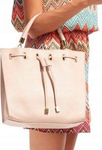 Rovicky kožená růžová kabelka TM-025 PINK Velikost: univerzální
