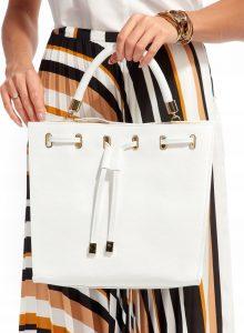 Rovicky kožená bílá kabelka TM-025 WHITE Velikost: univerzální