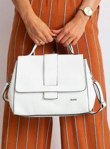 Rovicky kožená bílá kabelka TD-025G BIANCO Velikost: univerzální