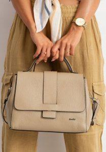 Rovicky kožená béžová kabelka TD-025G BEIGE Velikost: univerzální