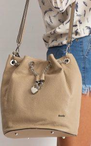 Rovicky béžová kožená kabelka TD-023 BEIGE Velikost: univerzální