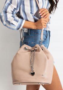 Rovicky růžová kožená kabelka TD-023 CIPRIA Velikost: univerzální