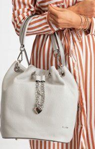 Rovicky šedá kožená kabelka TD-023 GRIGIO CHIARO Velikost: univerzální