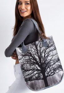LORENTI Šedá taška se vzorem stromu 069 Velikost: univerzální