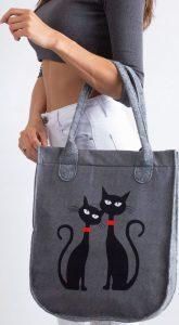 LORENTI Šedá taška se vzorem koček 058 Velikost: univerzální