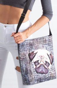 LORENTI Šedá taška se vzorem psa 072 Velikost: univerzální
