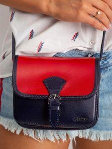 Rovicky kožená kabelka TM-085 RED-NAVY Velikost: univerzální