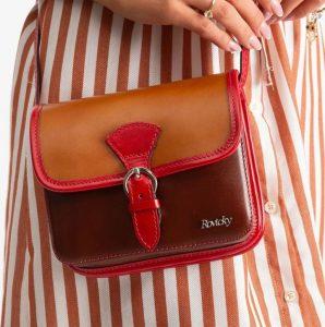 Rovicky kožená kabelka TM-085 CAMEL-BROWN Velikost: univerzální