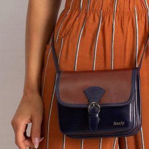 Rovicky kožená kabelka TM-085 BROWN-NAVY Velikost: univerzální
