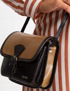 Rovicky kožená kabelka TM-085 BEIGE-BLACK Velikost: univerzální