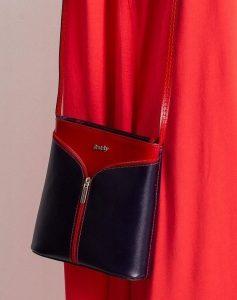 Rovicky kožená kabelka TM-08 RED-NAVY Velikost: univerzální