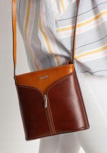 Rovicky kožená kabelka TM-08 CAMEL-BROWN Velikost: univerzální