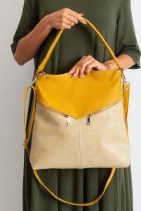 BASIC Dámská béžovo-žlutá kabelka 0008-1 Velikost: univerzální