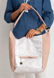BASIC Dámská růžovo-stříbrná kabelka 0007-3 Velikost: univerzální