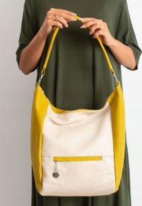 BASIC Dámská béžovo-žlutá kabelka 0007-2 Velikost: univerzální