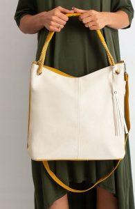 BASIC Dámská béžovo-žlutá kabelka 0006-4 Velikost: univerzální