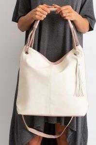 BASIC Dámská růžovo-bílá kabelka 0006-2 Velikost: univerzální