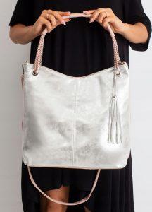 BASIC Dámská růžovo-stříbrná kabelka 0006-1 Velikost: univerzální