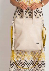 BASIC Dámská béžovo-žlutá kabelka 0005-1 Velikost: univerzální