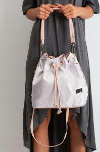 BASIC Dámská stříbrno-růžová kabelka 0004-1 Velikost: univerzální