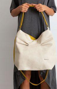 BASIC Dámská béžovo-žlutá kabelka 0003-3 Velikost: univerzální