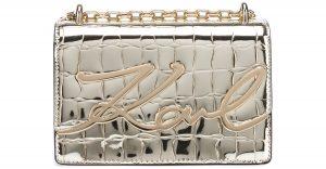 Signature Croco Small Kabelka Karl Lagerfeld | Zlatá | Dámské | UNI