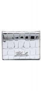 Signature Croco Mini Peněženka Karl Lagerfeld   Stříbrná   Dámské   UNI