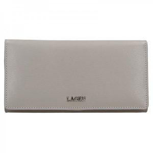Dámská kožená peněženka Lagen Evelin – taupe