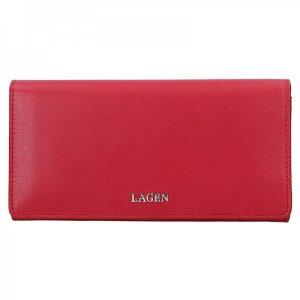 Dámská kožená peněženka Lagen Evelin – červená