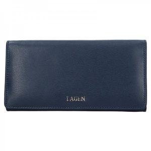 Dámská kožená peněženka Lagen Evelin – tmavě modrá
