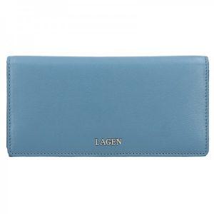 Dámská kožená peněženka Lagen Evelin – modrá