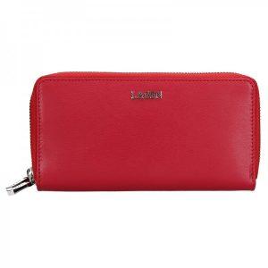 Dámská kožená peněženka Lagen Double – červená