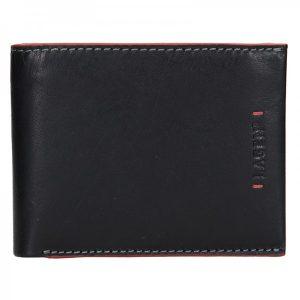 Pánská kožená peněženka Lagen Tobias – černo-červená