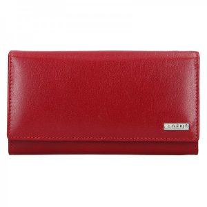 Dámská kožená peněženka Lagen Líza – tmavě červená