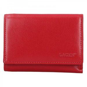 Dámská kožená peněženka Lagen Norra – tmavě červená