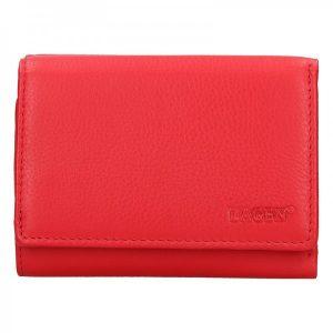 Dámská kožená peněženka Lagen Norra – červená