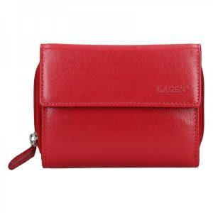 Dámská kožená peněženka Lagen Miriam – tmavě červená