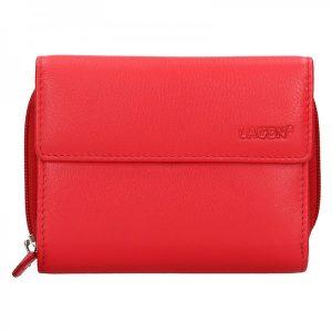 Dámská kožená peněženka Lagen Miriam – červená