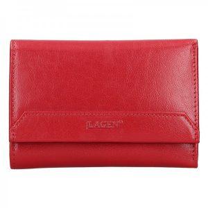 Dámská kožená peněženka Lagen Denisa – tmavě červená