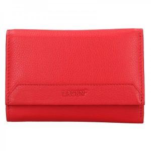 Dámská kožená peněženka Lagen Denisa – červená