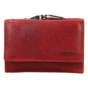 Dámská kožená peněženka Lagen Stela – červená