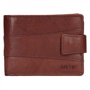 Pánská kožená peněženka Lagen Kevin – hnědá