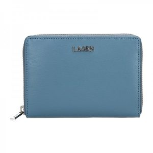 Dámská kožená peněženka Lagen Apolen – modrá