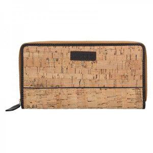 Dámská korková peněženka Lagen Noemi – béžovo-hnědá